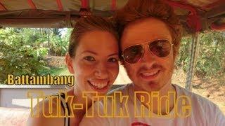 Tuk-tuk ride around Battambang, Cambodia (Cambodian countryside auto rickshaw ride)