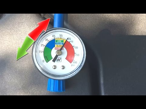 Car AC pressure too high FIX overcharged a/c gauge fluctuation reading jumps Up Down Freon problem