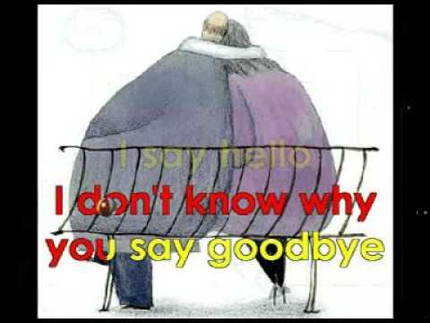 Hello Goodbye karaoke lyrics