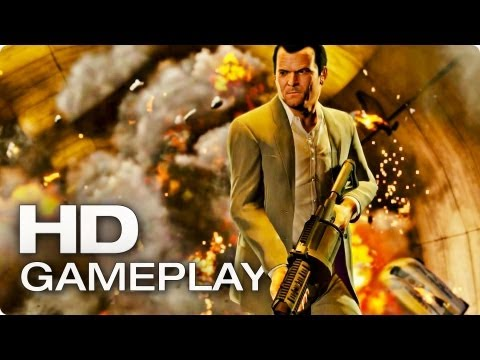 GTA V Gameplay Trailer Deutsch German | 2013 Official [HD]
