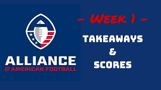 AAF Week 1 Takeaways & Scores - Alliance of American Football