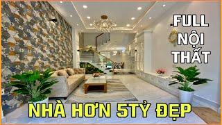 Bán nhà Gò Vấp |358] Nhà phố hiện đại 3 lầu hơn 5 tỷ tặng full nội thất thiết kế rất đẹp tại Gò Vấp