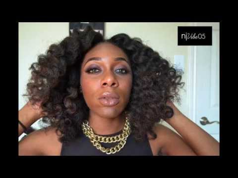Crochet Braids No Knot Method : 17: 6 -Way Part Invisible Crochet Braids Full Tutorial (No leave-out)