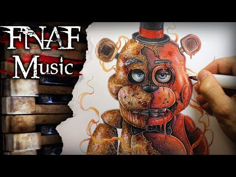 Five Nights at Freddy's (FNAF) Theme Song - Music + Drawing