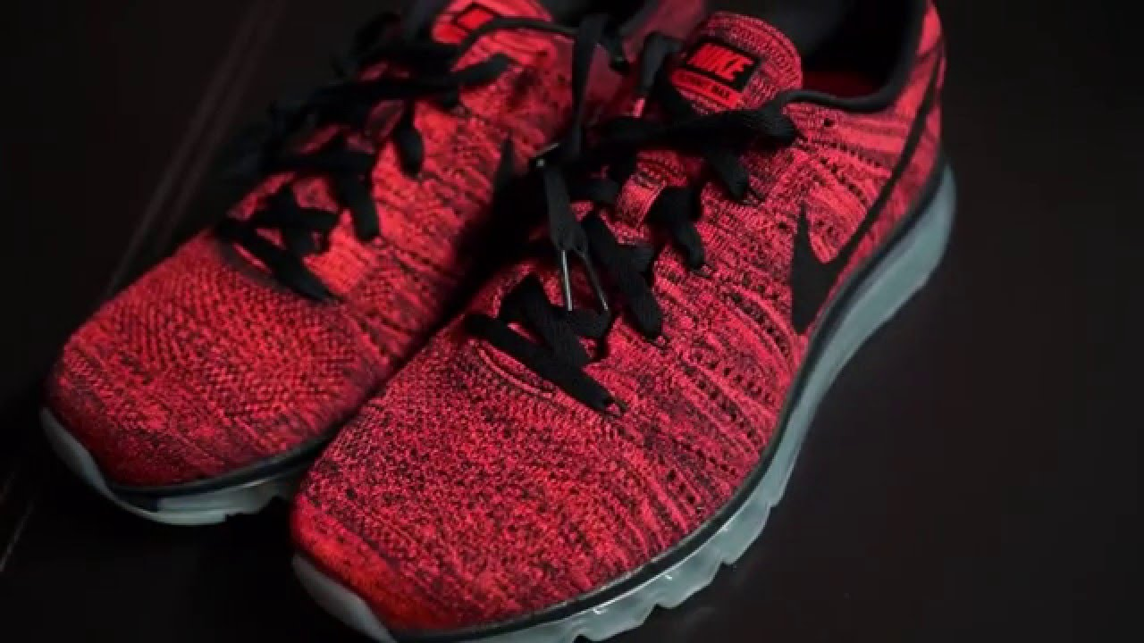 03094d33863f 2015 NIKE FLYKNIT MAX - HYPER ORANGE (RED)   BLACK UNBOXING JAPAN EXCLUSIVE  - YouTube