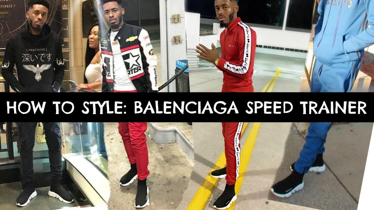 balenciaga speed trainer outfit ideas