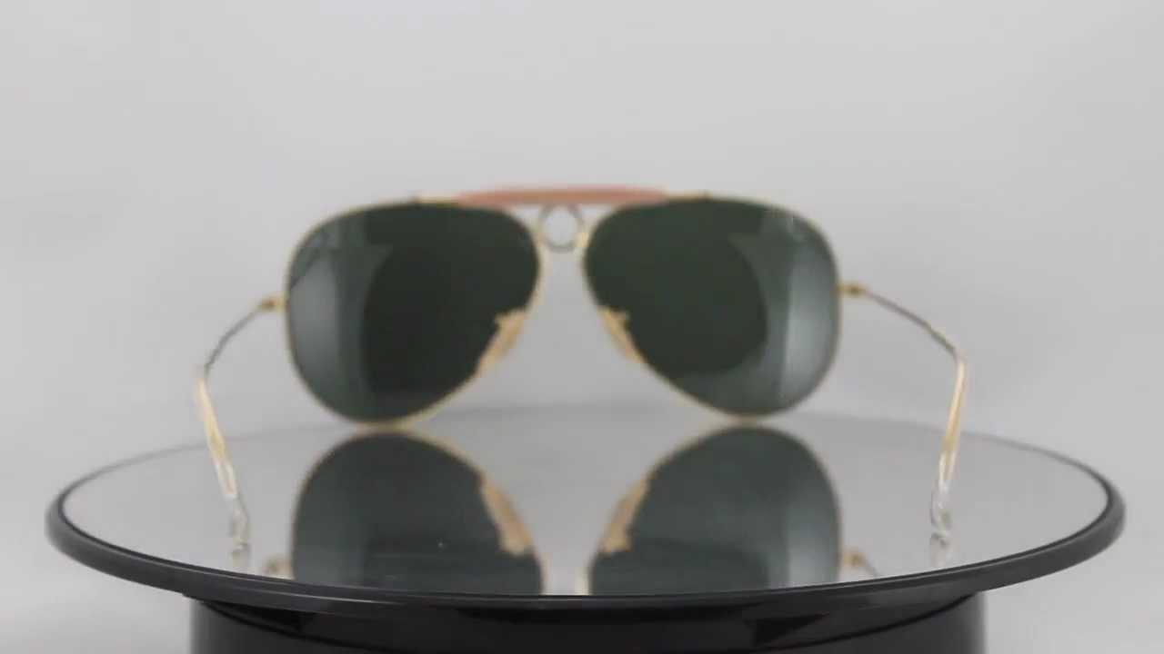 ray ban rb 3138 shooter aviator sunglasses yellow  ray ban rb3138 001 shooter