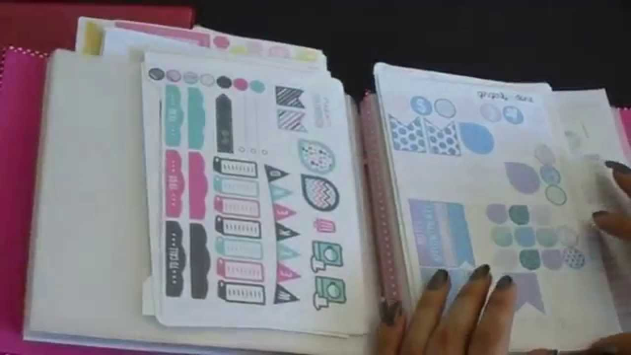 Diy file folder box to organize your stickers youtube - How To Store Your Planner Stickers