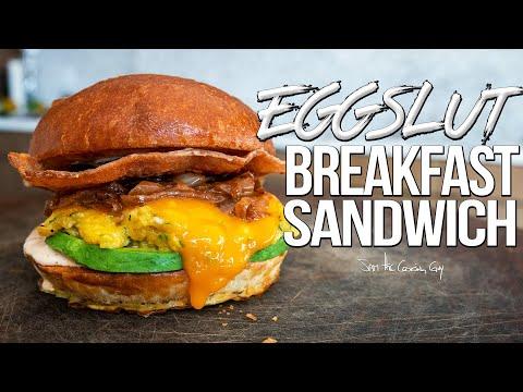 The Ultimate Breakfast Sandwich - Homemade Eggslut Recipe | SAM THE COOKING GUY 4K