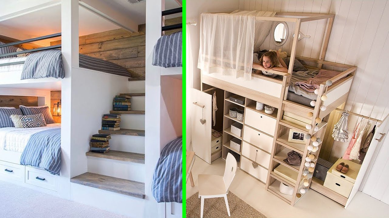 Download INCREDIBLE BEDROOMS For SMALL SPACES │Space Saving Furniture ▶2