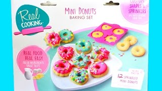 Real Cooking Mini Donuts Baking Set - I Bake Cute Sprinkle Donuts