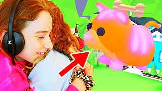 NAZ GETS HER DREAM PET in Adopt Me Gaming w/ The Norris Nuts