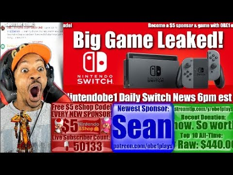 Big Nintendo Switch Game Leaked | Nintendobe1 Daily Switch News 6pm est
