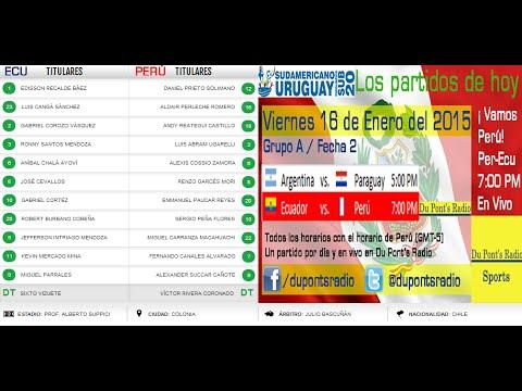 Perú Vs Ecuador Sudamericano Sub 20 2015 Partido Completo