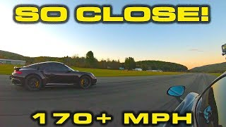 170 MPH ROLLL RACE  950HP Porsche 911 Turbo S AIM ES850 vs 850HP McLaren 720S