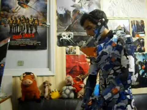 Dead space super soldier cosplay - YouTube