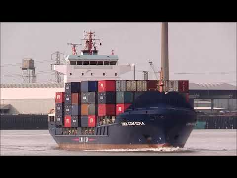 CMA CGM GOYA Container Ship 29/01/2019. Thames Shipping By R.A.S.