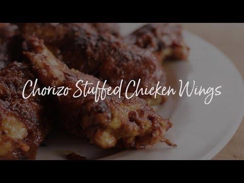 Chorizo Stuffed Chicken Wings