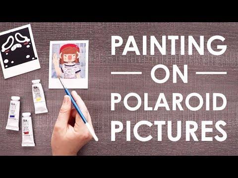 PAINTING on POLAROIDS