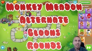 Bloons TD 6 - Monkey Meadow Alternate Bloons Rounds Walkthrough