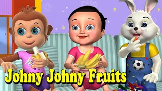 Johny Johny Yes Papa Fruits Song -3D Nursery Rhymes and Songs for Children