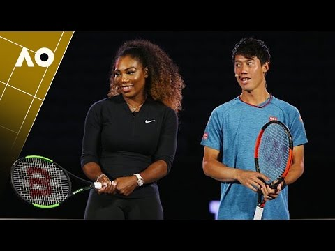 Serena Willams & Kei Nishikori -Wilson racquet launch | Australian Open 2017