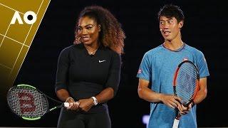 Serena Willams & Kei Nishikori -Wilson racquet launch | Australian Open 2017