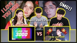 Gambar cover [KOREA REAKSI] I Love You 3000 (Stephanie Poetri & Reza Darmawangsa) | Original & Cover | Reaction