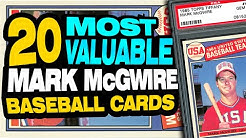 25 Valuable Mark McGwire Baseball Cards including his rookie cards