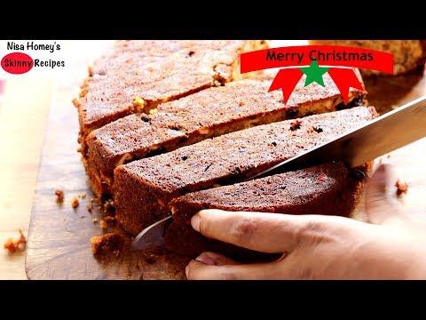 Christmas Fruit Cake Recipe – Kerala Plum Cake – Without Alcohol | Skinny Recipes