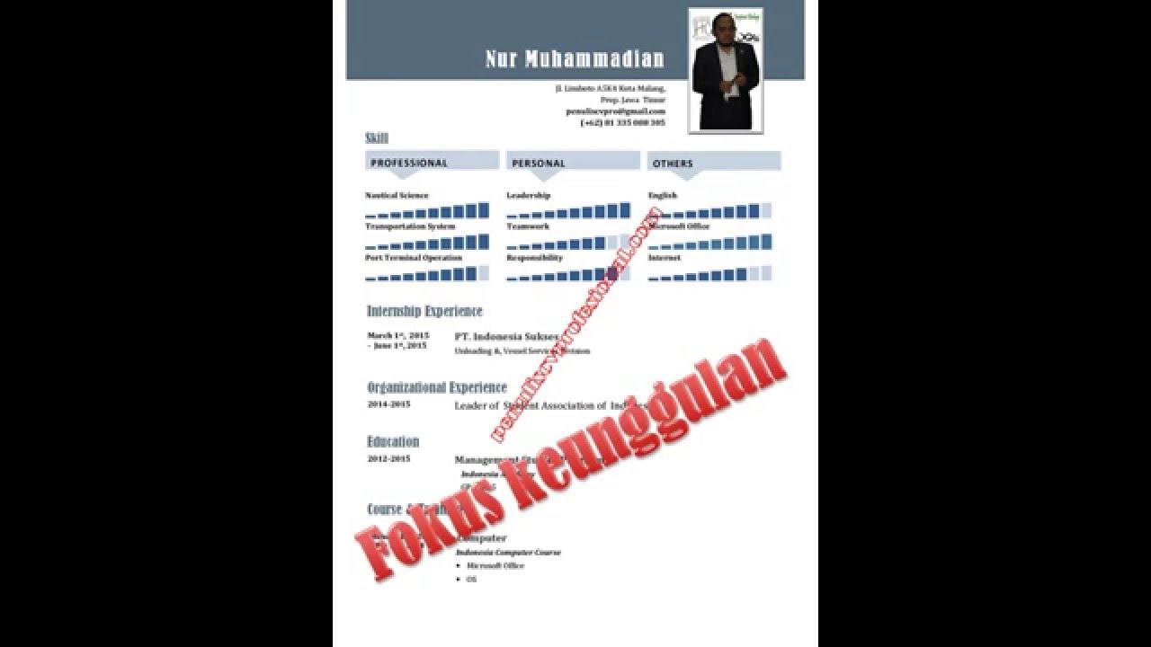 081555882600 Contoh Curriculum Vitae Untuk Fresh Graduate Youtube