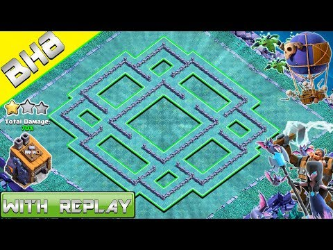 NEW Builder Hall 8 BASE LAYOUT WITH REPLAY 2018 | BH8 SYMMETRICAL BASE IN COC | CLASH OF CLANS