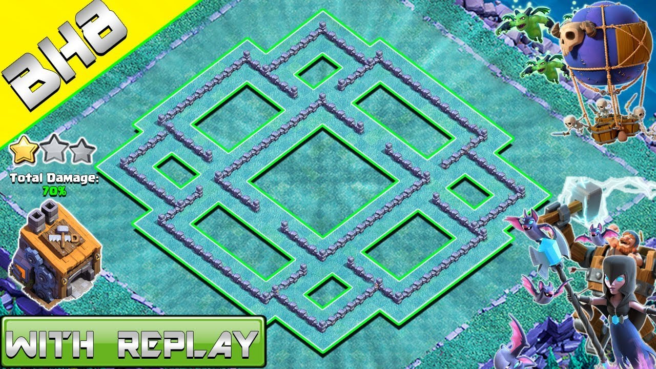 New Builder Hall 8 Base Layout With Replay 2018