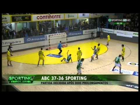 Andebol :: Play-off 1/2 Final 3Jogo :: ABC - 37 x Sporting - 36 de 2014/2015