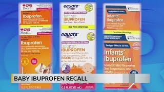 Infants' ibuprofen sold at Walmart, CVS, Family Dollar recalled