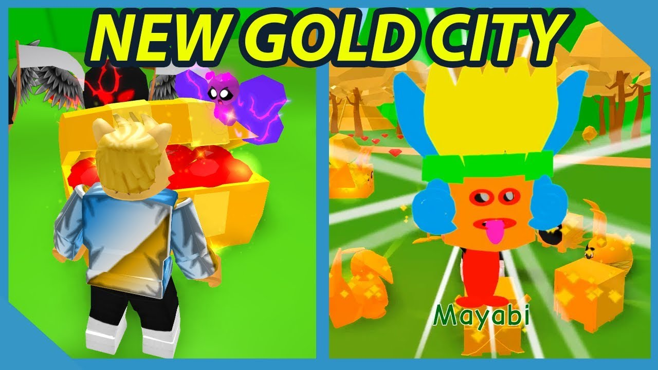 New Gold City World in Roblox Pet Trainer Simulator
