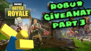IM A FORTNITE NOOB! (10,000 ROBUX! GIVEAWAY)