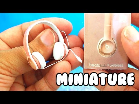 DIY MINIATURE BEATS by DRE HEADPHONES! | for barbie, monster high, LPS, AG and more