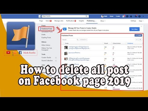 How To Delete All Post On Facebook Page 2019