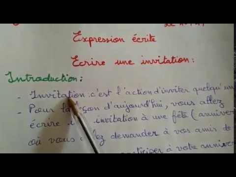 expression ecrite ecrire une invitation ce2