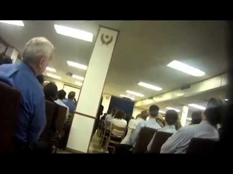Inside Scientology Sea Org meeting