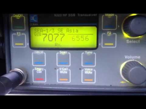 6556 kHz Jakarta & Brisbane aeronautical HF radio