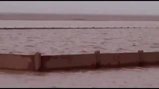 """بالفيديو. .غرق مقبرة هجرة """" ام رضمة"""" جراء هطول الأمطار بشرق رفحاء"""