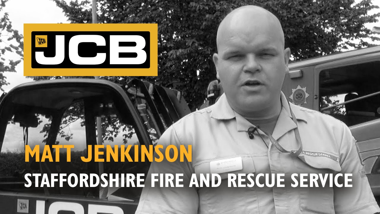 JCB Teletruk at the Staffordshire Fire and Rescue Training Centre