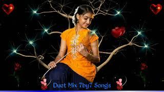 Nee Enge Nee Enge Idhayam Nindru || Super Sad Songs || Duet Version 7by7 Mixed