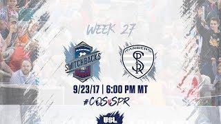 USL LIVE - Colorado Springs Switchbacks FC vs Swope Park Rangers 9/23/17 thumbnail