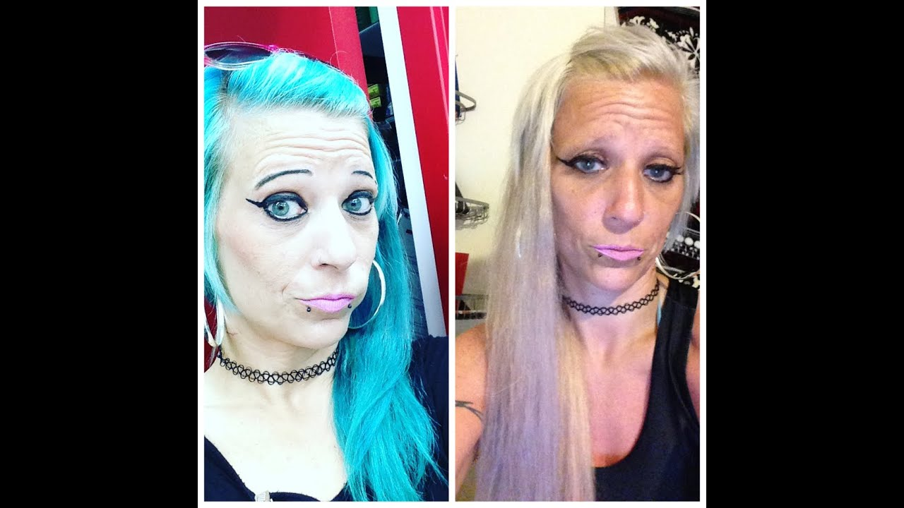 Going Blue To Blonde Loreal Effasol Color Remover Youtube
