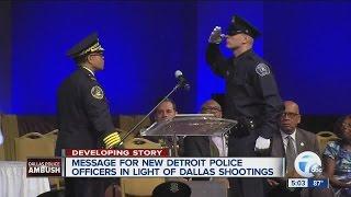 Detroit Police Chief James Craig speaks following Dallas shootings