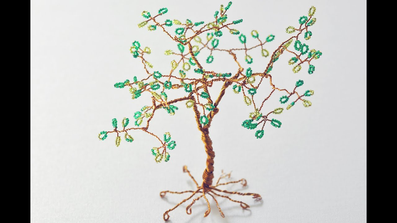 Famous beaded wire trees photos electrical circuit diagram ideas beaded wire tree how to youtube ccuart Gallery