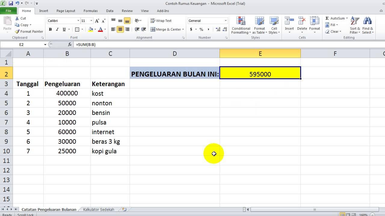 Contoh Laporan Keuangan Pemasukan Dan Pengeluaran Excel Download Kumpulan Contoh Laporan